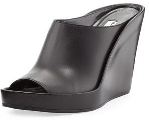 21ebce62db1 ... Balenciaga Pad Mule Leather Wedge Slide Black ...