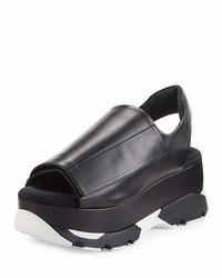 Marni Slingback Grip Platform Sandal Black