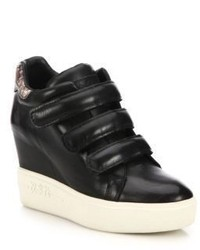 Ash Avedon Leather High Top Wedge Sneakers