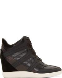 Y-3 Black Sukita Iii High Top Wedge Sneakers