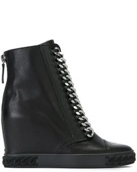 Casadei Chain Detail Wedge Sneakers