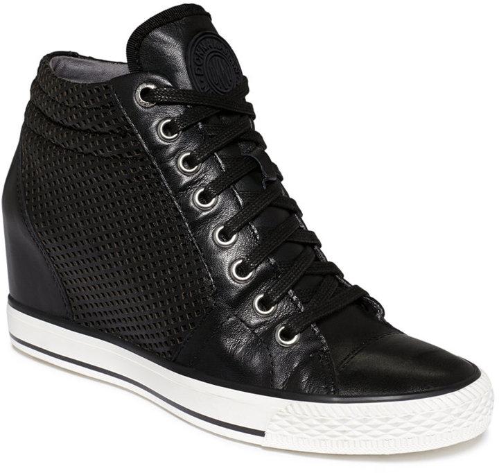 6c6546690087 ... DKNY Cindy Wedge Sneakers ...