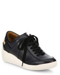 See by Chloe Duncan Leather Wedge Sneakers