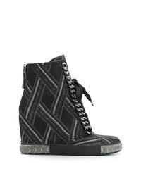 Casadei Embellished Wedge Sneakers
