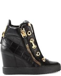 Giuseppe Zanotti Design Wedge Hi Top Sneakers