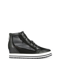 Marc Cain Mesh Concealed Wedge Sneakers
