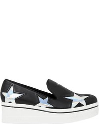 Stella McCartney 60mm Binx Faux Leather Wedge Sneakers