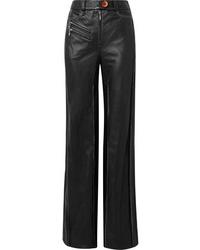 Ellery Ed Leather Wide Leg Pants