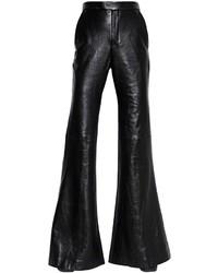Flared nappa leather wool pants medium 3638356