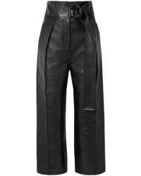 Petar Petrov Hna Leather Wide Leg Pants