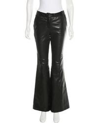 Rachel Zoe Leather Flared Pants