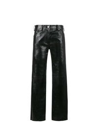 Calvin Klein 205W39nyc Straight High Waist Leather Trousers