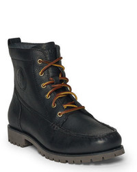 Black Leather Work Boots