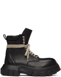 Rick Owens Black Bozo Tractor Army Boots
