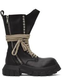 Rick Owens Black Bozo Tractor Boots