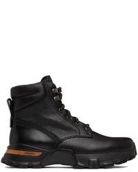 Ermenegildo Zegna Black Carlo Lace Up Boots