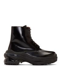 Maison Margiela Black Combat Boots