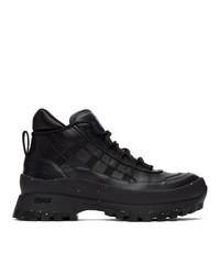McQ Black Fa 5 Hiking Boots