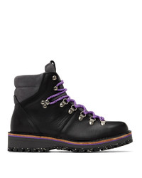 Ps By Paul Smith Black Leather Ash Boots