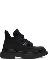 Salvatore Ferragamo Black Neji Lace Up Boots