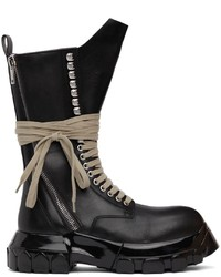 Rick Owens Black Polished Bozo Tractor Boots