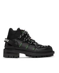 DSQUARED2 Black Techno Ropes Boots
