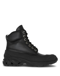 Burberry Chunky Lace Up Leather Boots