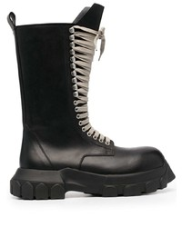 Rick Owens Chunky Mid Sole Leather Boots