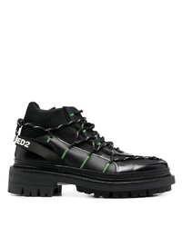 DSQUARED2 Contrast Stitching Hiking Boots