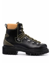 DSQUARED2 Contrasting Panel Lace Up Boots