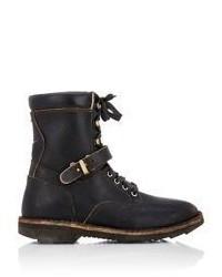 Maison Margiela Distressed Lace Up Boots Black