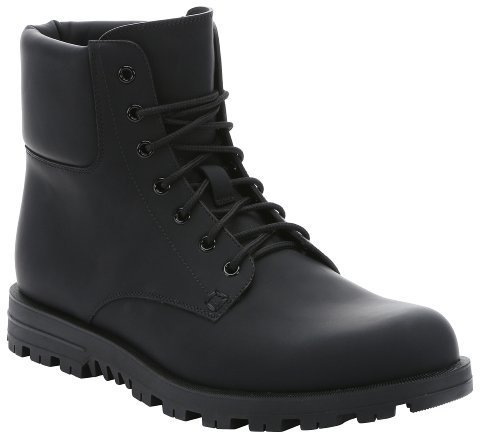 Gucci Black Matte Leather Lace Up Work Boots | Where to buy & how ...