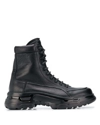 Giorgio Armani Lace Up Military Boots