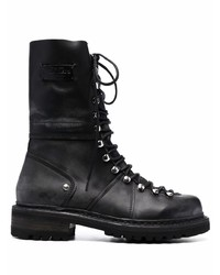 DSQUARED2 Logo Patch Lace Up Boots