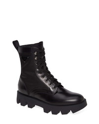 Prada Logo Plain Toe Boot