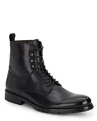 Saks Fifth Avenue Rinaldo Leather Lace Up Boots