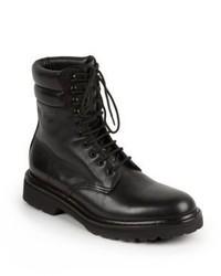Saint Laurent Trekker 25 Leather Lace Up Boots
