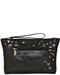Alexander McQueen Charm Studs Leather Pouch