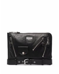 Moschino Biker Style Clutch Bag