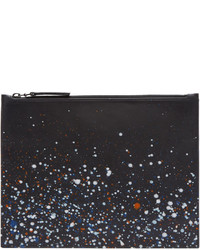 Black paint splatter pouch medium 1044364