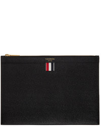 Thom Browne Black Small Zip Tablet Pouch