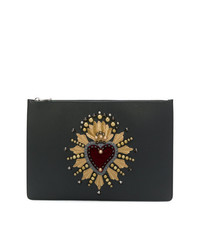 Dolce & Gabbana Docut Holder With Heart Patch Clutch