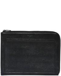 Saint Laurent Fragt Zip Around Leather Pouch