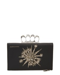 Alexander McQueen Knuckle Ring Embroidered Pouch