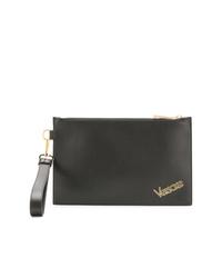 Versace Logo Plaque Clutch Bag