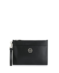 Philipp Plein Logo Plaque Clutch