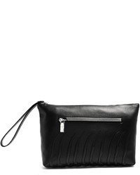 Alexander McQueen Rib Cage Embossed Leather Pouch