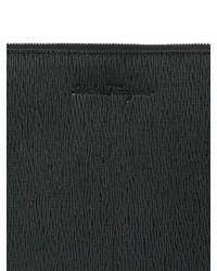 ... Salvatore Ferragamo Revival Embossed Leather Pouch ... 56c8ddd9ab4f8