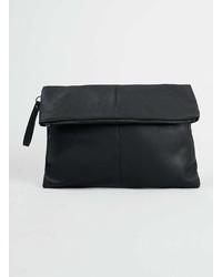 Topman Black Leather Look Clutch Bag