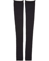 Acne Studios Black Long Jill Leg Warmers